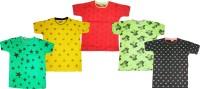 Kifayati Bazar Boys & Girls Printed Hoisery T Shirt(Multicolor, Pack of 5)