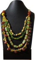 Stilvoll Antique Vintage Fashion Beads Necklace Bib Strands Semi Precious Stones Pendant Chain Choker Women Jewellery Beads Metal Necklace
