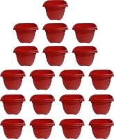 SHOPTICO o 2138 Plant Container Set(Pack of 19, Plastic)