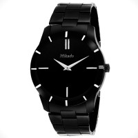 Mikado Black SLim Analog watch for Men's and Boy's Watch  - For Men