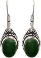 JFL-Jewellery For Less JFL - Traditional Ethnic Handmade German Silver Plated Oxidised Semi Precious Stone Designer Earring For Women & Girls. Brass Dangle Earring
