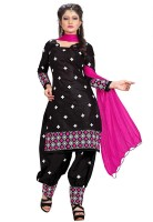 3Buddy Fashion Cotton Embroidered Semi-stitched Salwar Suit Dupatta Material