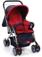 Plus One Pram & Stroller Red Tri Pram(3, Red)
