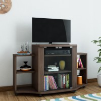 HomeTown Pacific Tv Engineered Wood TV Entertainment Unit(Finish Color - Walnut)