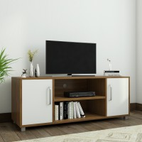 Spacewood Modern Engineered Wood TV Entertainment Unit(Finish Color - Brown)