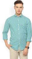 Peter England University Men's Checkered Casual Spread Shirt