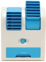 Elegant Shopping Mini USB Fragrance Air Conditioner Cooling Fan Cooling Portable Desktop Dual Bladeless Air Cooler - Assorted Color Personal Air Cooler(blue, .05 Litres)