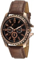 Newman AJ Stylish Copper Dial Brown Leather Strap Analog For Man & Boys Watch  - For Boys