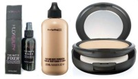 Huda Beauty MAKEUP KIT MAKEUP FIXER SPRAY WITH FOUNDATION & COMPACT (MAC) SUITABLE FOR ALL SKIN(Set of 3)