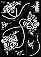 ARR Henna Stencils HS 357(HENNA DESIGN) - Price 130 45 % Off