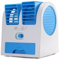 View BUY SURETY Best Buy Mini Adjustable Angles Dual Air Outlet Fan Electric Air Fan Cooling Desktop Portable Bladeless Blower Mini Cooler Fan Personal Air Cooler(Multicolor, 0.1 Litres) Price Online(BUY SURETY)