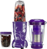 Wonderchef Nutri-Blend with Juicer Attachment 400 Juicer Mixer Grinder(Purple, 3 Jars)