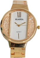 Alaska Creation alaskasparkNew designer premium quality Analog chain strap watch for girls and women's Alaska New AC202 Gold metal pattern Bracelet Girls watch -for women Watch  - For Girls