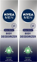 Nivea Men Fresh Protect Energy Deodorizer Body Spray Deodorant Spray  -  For Men(240 ml, Pack of 2)