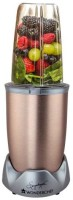 Wonderchef Nutriblend Pro Copper 700W powerful metal 700 Juicer Mixer Grinder(Copper, 2 Jars)