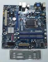 Intel H55 Desktop Mboard support 1156 socket Motherboard(Blue)