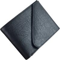 Quetzal Men Black Genuine Leather Wallet(5 Card Slots)