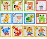 Wishkey Wooden Colorful Learning Magnetic Animal Puzzle Blocks Game with Drawing Board Educational Toy Set Of 12 for Kids(8 Pieces)