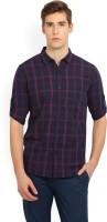 Highlander Men's Checkered Casual Spread Shirt