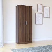 View Perfect Homes by Flipkart Engineered Wood 2 Door Wardrobe(Finish Color - Walnut) Furniture