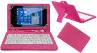 ACM Keyboard Case for Dell Venue 7 3740(Pink, Cases with Holder, Artificial Leather)