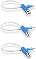 OLECTRA USB 3.1 Type C to dual 3.5 mm Headphone Splitter ( Blue) USB Adapter(Multicolor)