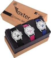 Foxter Pack Of 3 Styluss Colourful Casual Combos Watch - For Girls Watch - For Girls