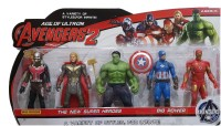 AS Avengers Infinity War Action Figure of 5 Super Heroes (Deluxe Size)(Multicolor)