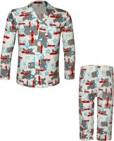 Kothari Kids Nightwear Boys Printed Cotton(Multicolor Pack of 1)