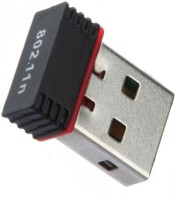 PIQANCY Mini 2.4GHz Wireless Wife Dongle 300Mbps 802.11n USB Adapter(Black)