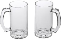 Somil (Pack of 2) Beer-H2 Glass Set(450 ml, Glass)