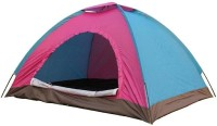 Pearl Outdoor waterproof portable 6 person 1 door anti-sun anti-insect windproof large space shade side camping hiking tent Tent - For 6(Multicolor)