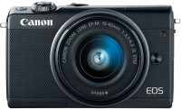Canon M100 Mirrorless Camera Body with Single Lens EF-M 15-45 mm IS STM(Black)