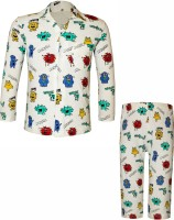 Kothari Kids Nightwear Boys Printed Cotton(White Pack of 1)