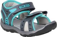 Claptrap Boys Velcro Sports Sandals(Blue)