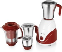 Pigeon Estella 750 Watt Juicer Mixer Grinder(white and maroon, 4 Jars)