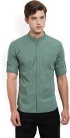 Highlander Men's Solid Casual Mandarin Shirt