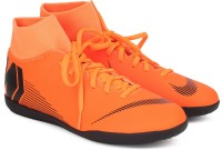 Nike SUPERFLY 6 CLUB IC Football Shoes For Men(Black, Orange)