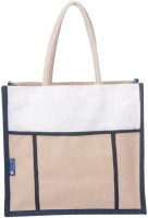 Promise Bags Perfect Eco Friendly Naturally processed Multipurpose Reusable Jute Bags(White, Cream) Multipurpose Bag(Multicolor, 5 L)