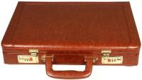 OBANI Faux Leather Briefcase Medium Briefcase - For Men(Tan)