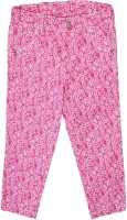 Caca Cina Capri For Girls Floral Print Cotton(Pink)