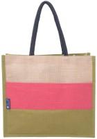 Promise Bags Multipurpose Jute Lunch Bag/Handbag/Tote Bag For Office Executive Men/Women/Girls/Unisex/Adult Multipurpose Bag(Green, Pink, Beige, 14 inch)