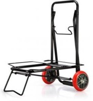 sajani Small Two Wheels Foldable Luggage Cart Trolley Metal Bar Trolley(Finish Color - MATTE)
