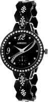Abrexo Abx08043 BK BLACK Ladies Exclusive Designer Studded Series Watch  - For Women
