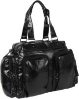 XENSA (Expandable) Genuine_LEATHERite Travel Duffel Bag(Black)