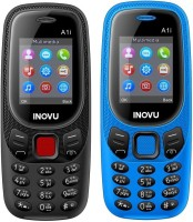 Inovu A1i Combo of Two Mobiles(Black & Blue)