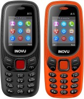 Inovu A1i Combo of Two Mobiles(Black & Orange)