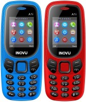 Inovu A1i Combo of Two Mobiles(Blue & Red)