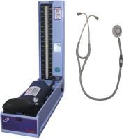 Diamond LED Regular Model BPDG 041 with Life- Line Gold Stethoscope Grey Combo Kit Bp Monitor Health Care Appliance Combo