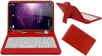 ACM Keyboard Case for Lava Magnum X1(Red, Cases with Holder, Artificial Leather)